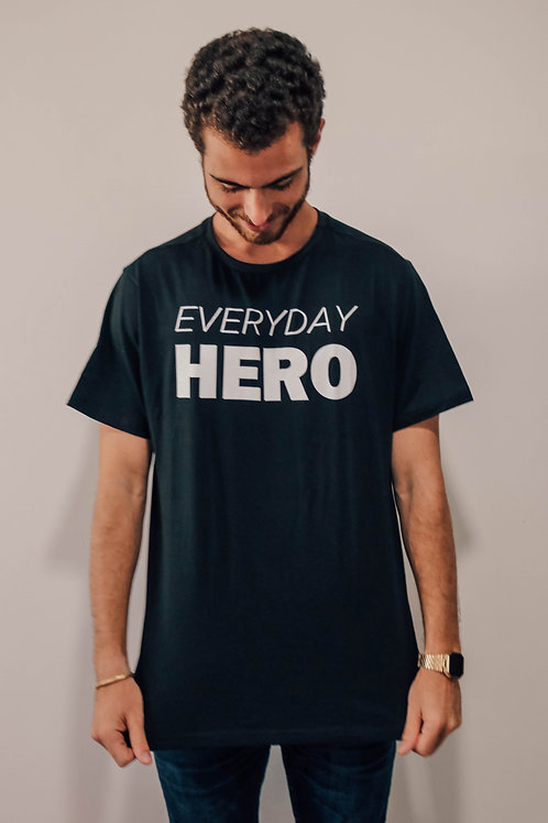 Camisa Masculina Preta Everyday Hero
