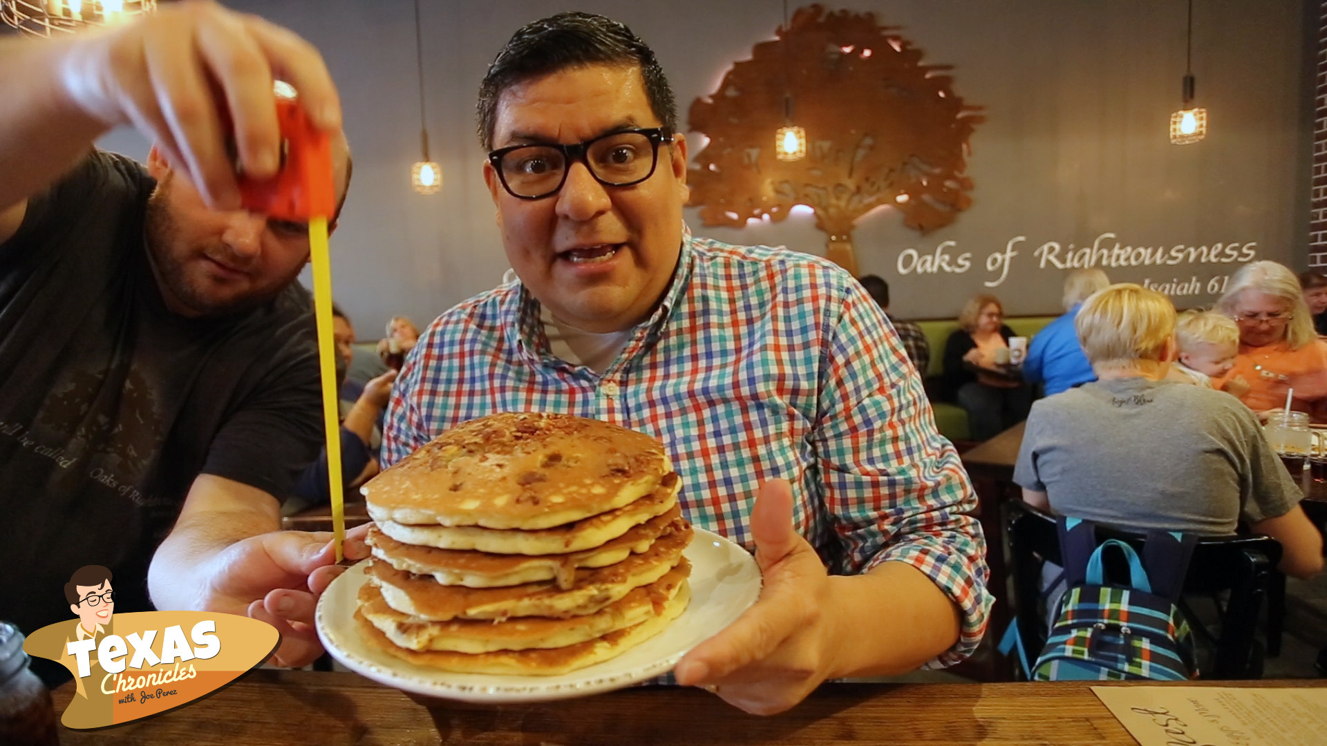 Pancake challenge at Red Oak Cafe'