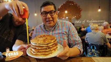 Pancake challenge at Red Oak Cafe'