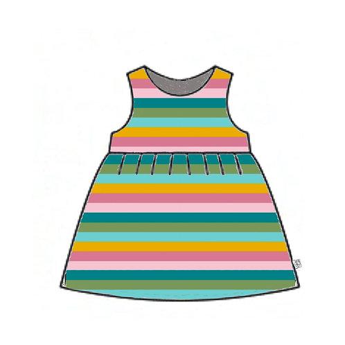 Sorbet StripePinafore Dress