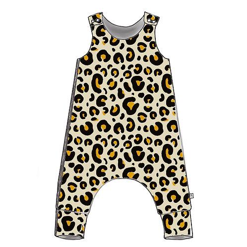Leopard Harem Romper