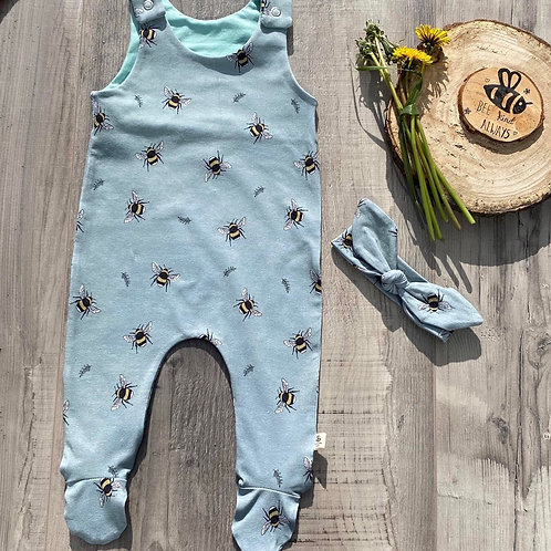 Duck Egg Bees Footed Baby Romper
