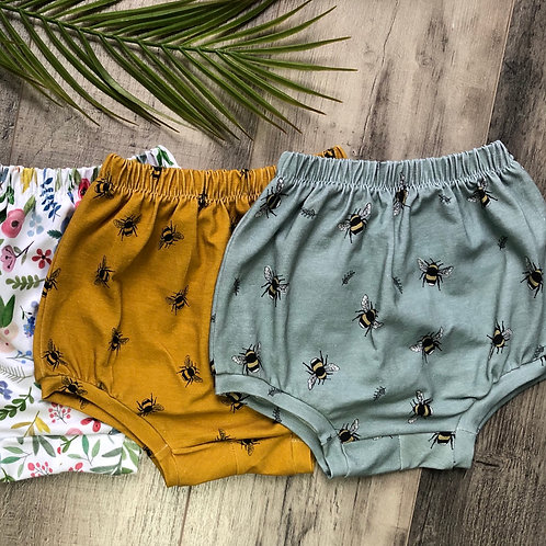 Duck Egg Bees Bloomer Shorts