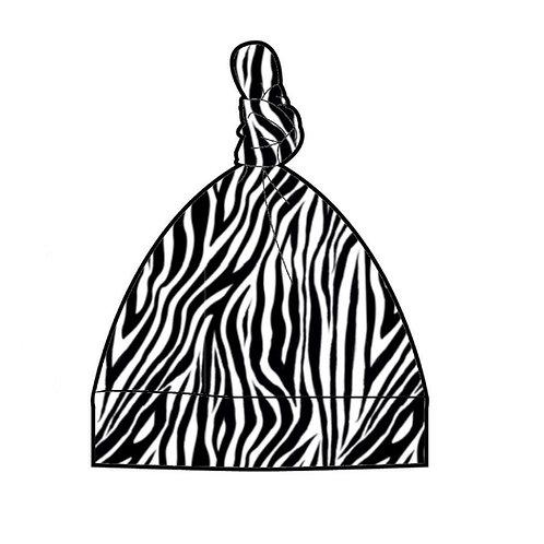 Zebra Baby Knot Hat