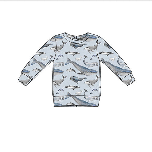 Whale Tales Lightweight Sweater Top