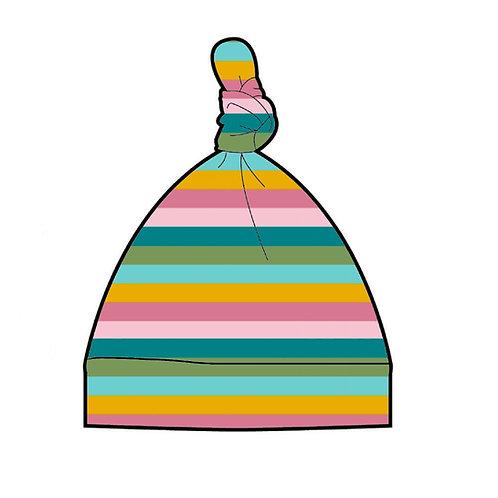 Sorbet Stripe Baby Knot Hat