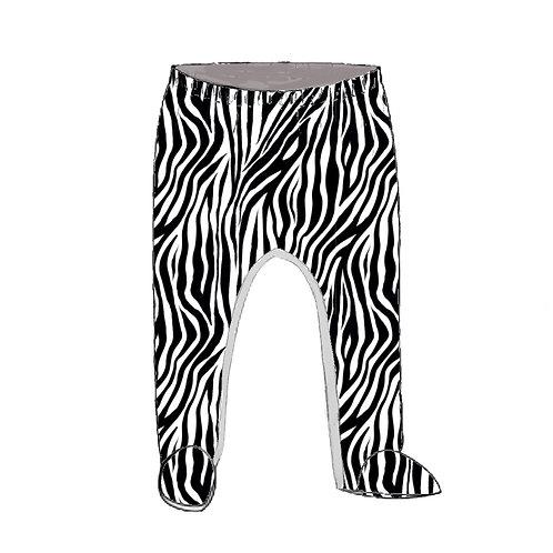 Zebra Footed Baby Leggings