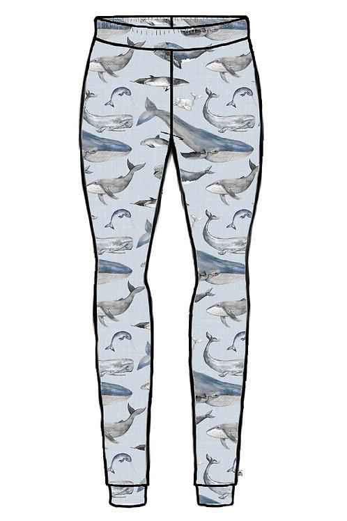 Whale Tales Adult Leggings