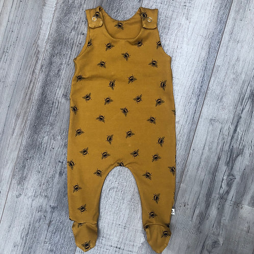 Ochre Bees Footed Baby Romper