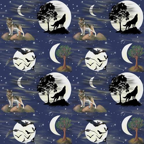 Lunar Wolf Adult Leggings