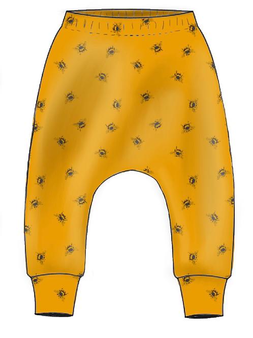Ochre Bees Slim Harem Leggings