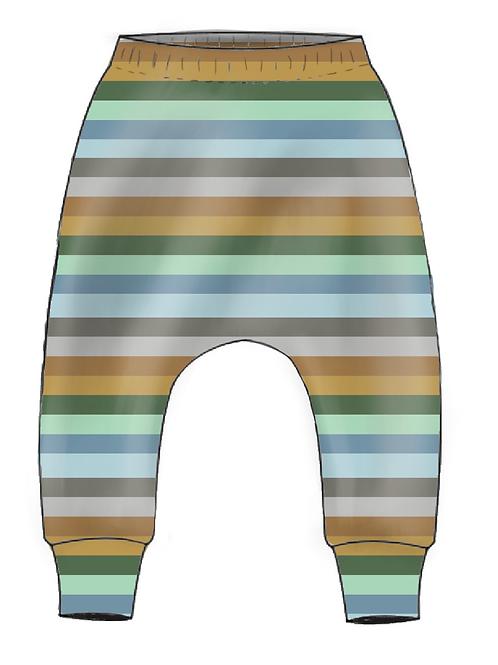 Grassland Stripe Slim Harem Leggings