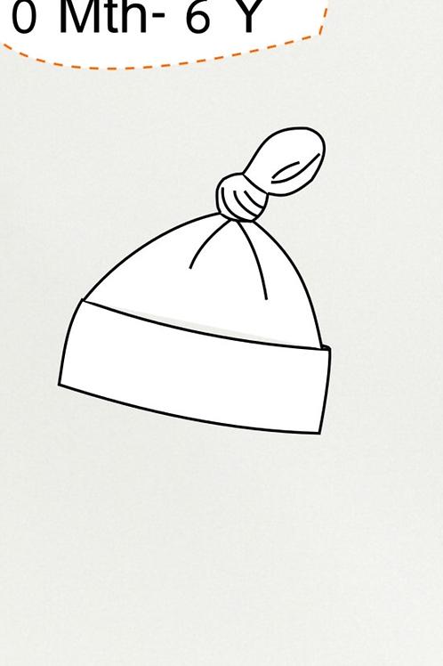 Grassland Stripe Baby Knot Hat