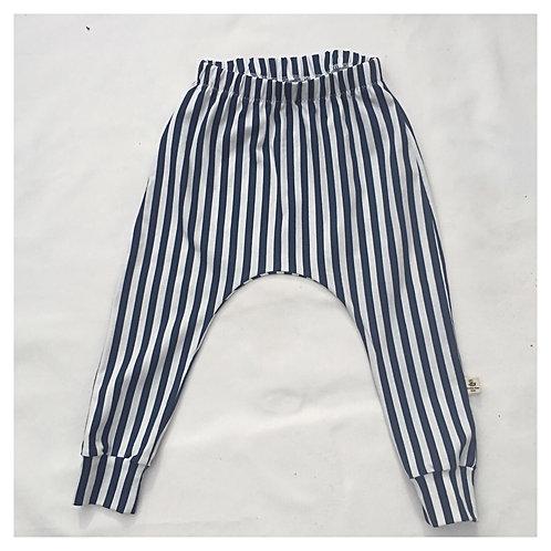 Vertical Stripe Slim Harem Leggings