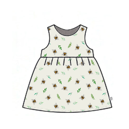 Botanical Bees Pinafore Dress
