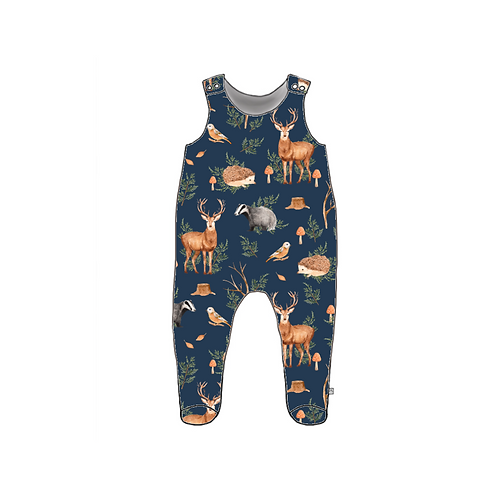 Woodland Footed Baby Romper