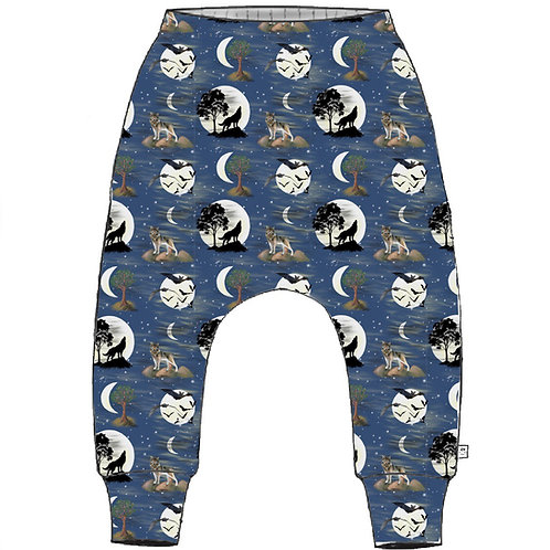 Lunar Wolf Slim Harem Leggings