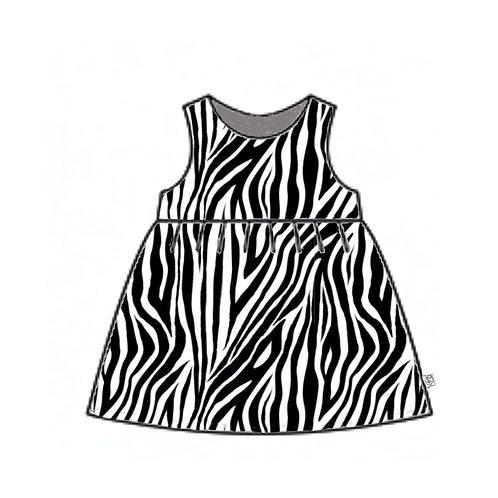 Zebra Pinafore Dress