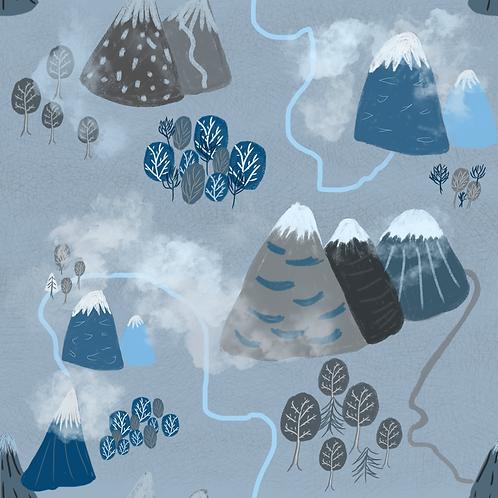 Misty Mountains Organic Cotton Skirt