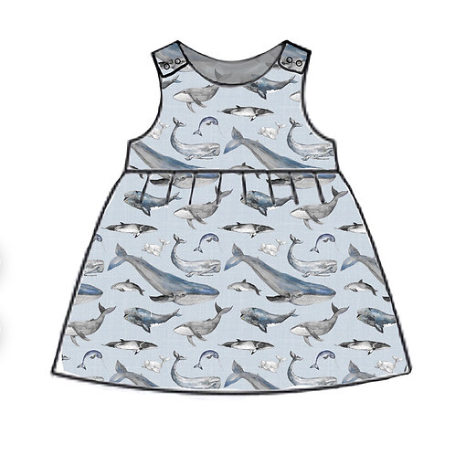 Whale Tales Pinafore Dress