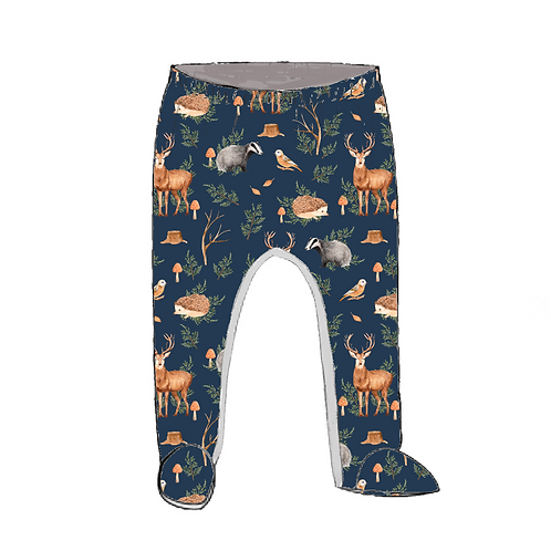 Woodland Footed Baby Leggings