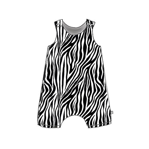 Zebra Shortie Romper