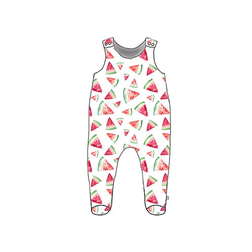 Watermelon Footed Baby Romper