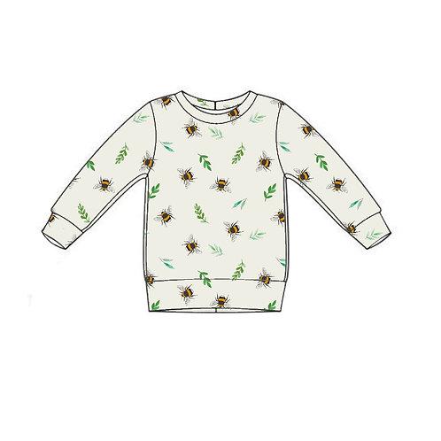 Botanical Bees Lightweight Sweater