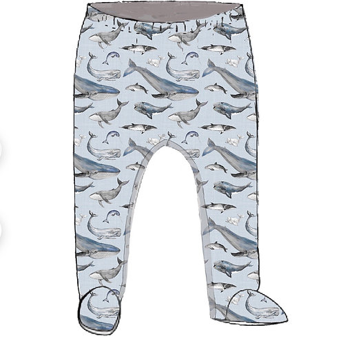Whale Tales Footed Baby Leggings