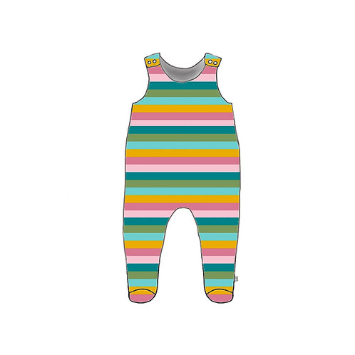 Sorbet Stripe Footed Baby Romper