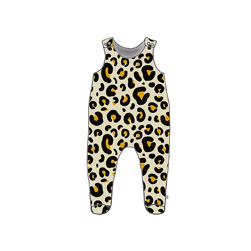 Leopard Footed Baby Romper