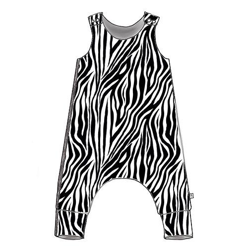 Zebra Harem Romper