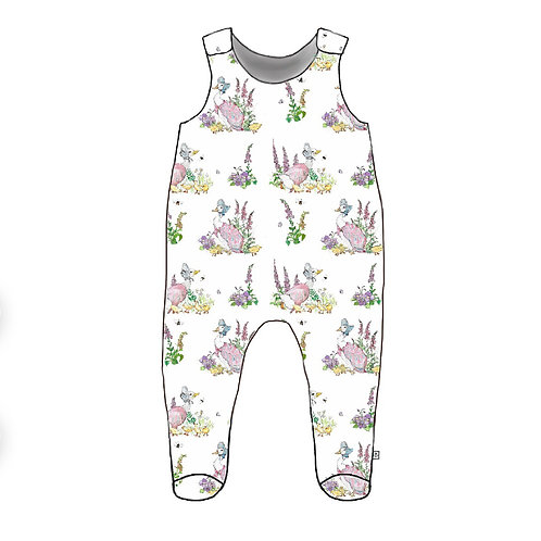 Oh Jemima Footed Baby Romper