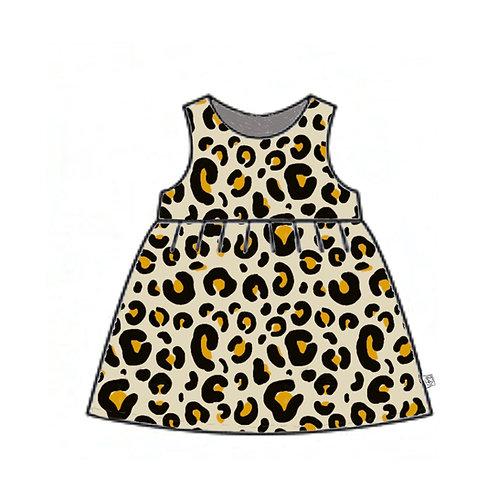 Leopard Pinafore Dress