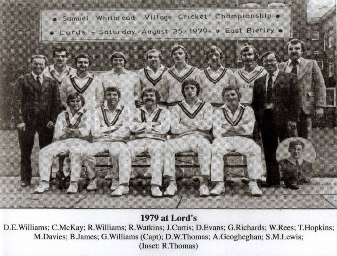 Ynysygerwn Lords 1979 Team Photo
