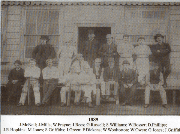 Ynysygerwn CC 1889 Team Photo
