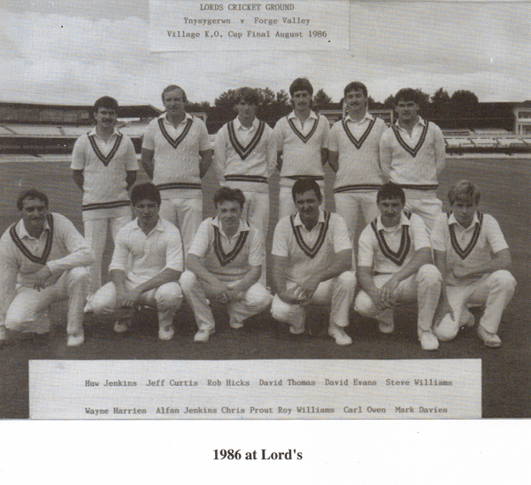 Ynysygerwn Lords 1986 Team Photo