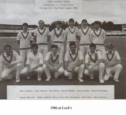 Ynysygerwn Lords 1986 Team Photo