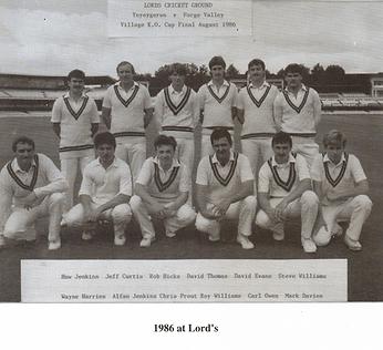 ynysygerwn lords 1979 & 1986