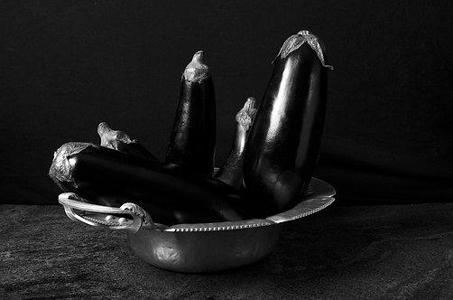 Berenjenas. Black & White. From the bodegon series, 2015