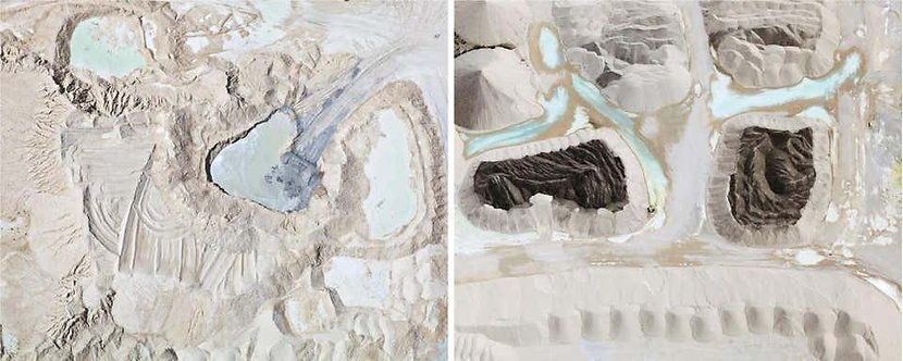 Lake 2, and Quarry 2, Aerial Photography Set, 2015