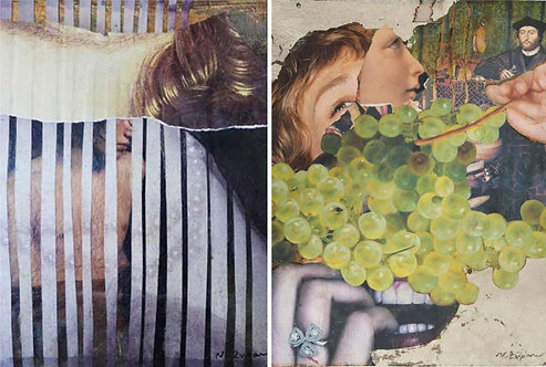 Eternal Recurrence #15, and #17, Photo Collage Set, 2015