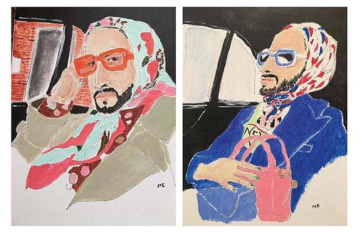 Marc Jacobs portraits, Set, 2020 (Framed)