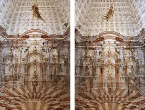Palazzo Grimani Female Center and Male Center Diptych, 2016
