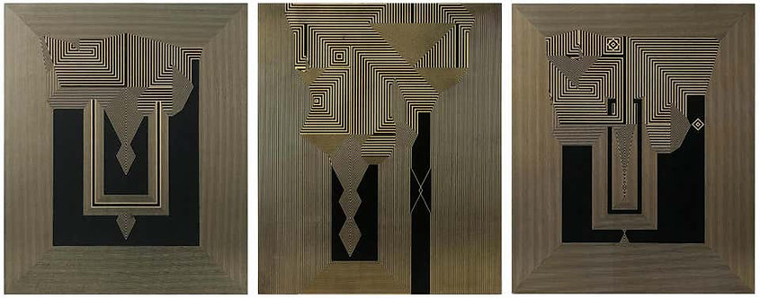 Untitled 25, Untitled 26 & Untitled 27 Tryptych, 2019