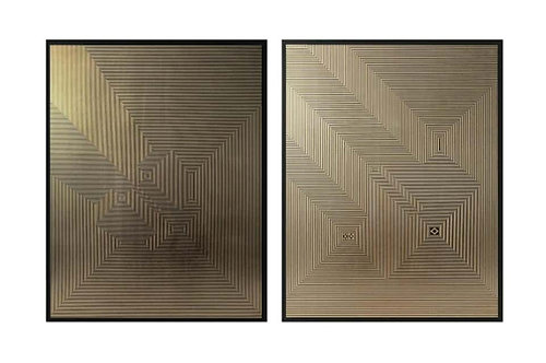 Untitled 5 & Untitled 3 Diptych, 2019