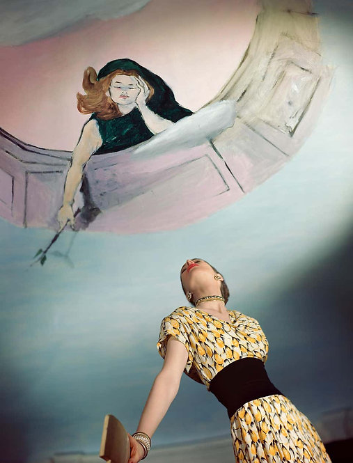 Fashion in Colour - Dress by Jo Copeland, Murals by Marcel Vertes, 1946