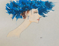 Suzy Parker in a Blue Hat