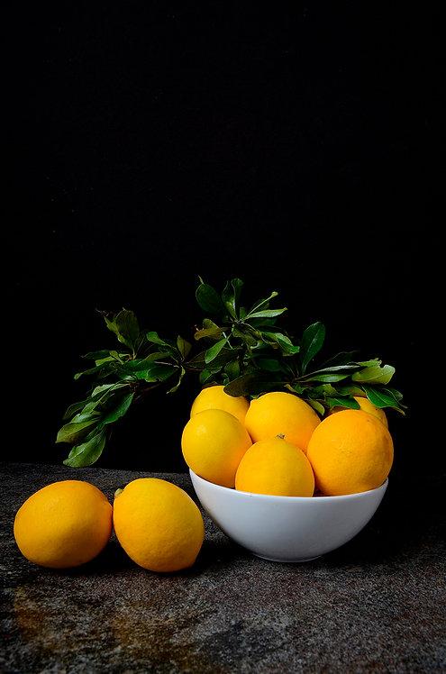 Lemons II. From the bodegon series, 2015