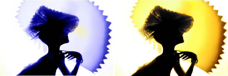 Back Lighting, Blue Yellow, Diptych